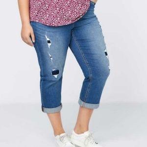 Penningtons DC Jeans Crop Girlfriend Curvy Size 26